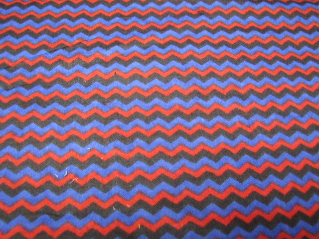 zig zag red blue flannel